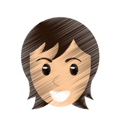drawing face man male avatar image vector image