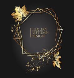 Elegant poster autumn design golden fallen leaves vector