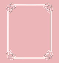 elegant white frame vector image