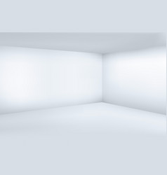 Empty white 3d modern room with space clean corner vector