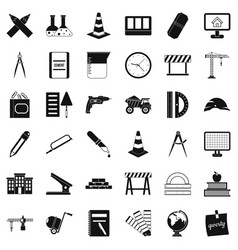 Equipment icons set simple style vector