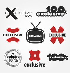 exclusive logos vector image