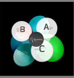 glossy glass circle banner design template vector image