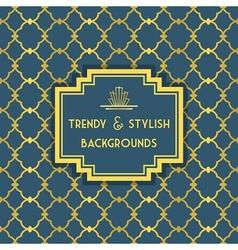 Golden and blue trendy and stylish pattern vector image