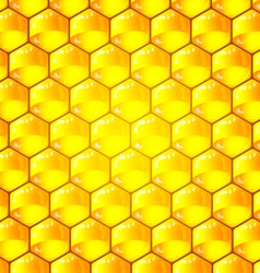 Golden cells of a honeycomb pattern vector image