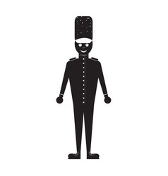 Isolated nutcracker soldier toy icon vector