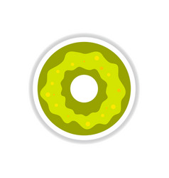 Label icon on design sticker collection donut with vector