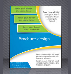 Layout business brochure template or magazine vector