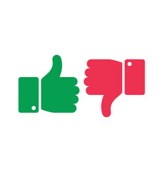 Like unlike buttons thumbs up and down isolated vector