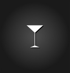 martini glass icon flat vector image