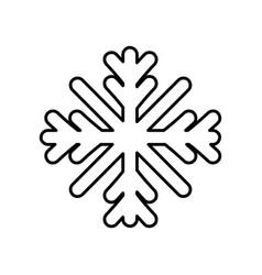 merry christmas celebration snowflake decoration vector image