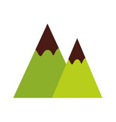 mountains landscape symbol vector image