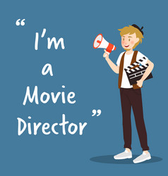 movie director character with megaphone and vector image