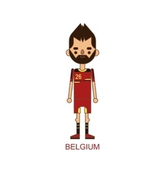 National belgium soccer football player vector image