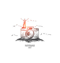 photographer concept hand drawn isolated vector image