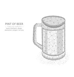 pint beer low poly graphic model polygonal vector image