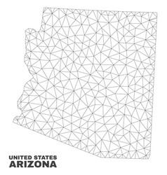 Polygonal mesh arizona state map vector