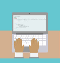 programmer creates a web page work on a vector image