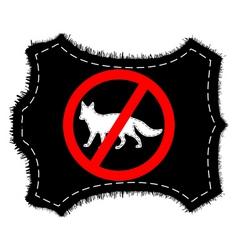 prohibition sign fox fur vector image