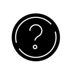 Question black icon concept vector