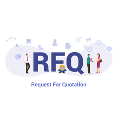 Rfq request for proposal concept with big word or vector