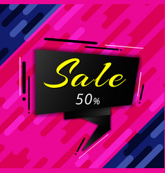 sale banner and discount geometric vibrant vector image