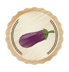 Seal stamp with beetroot icon vector