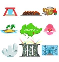 Singapore Touristic Symbols Collection vector