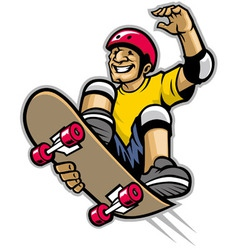 Skater doing skateboard trick vector