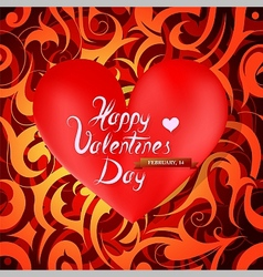 St Valentines greeting card design vector
