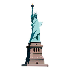 Statue liberty vector