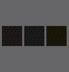 steel diamond plate texture set black metal vector image