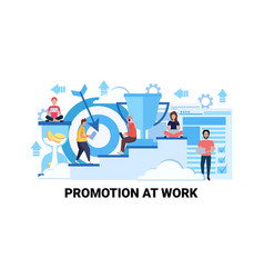 Steps to success career growth promotion at work vector