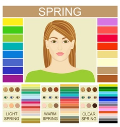 Stock set of three spring types of female vector