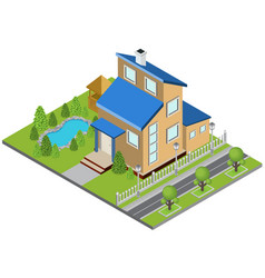 suburbia building concept vector image