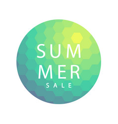 summer sale banner template design vector image