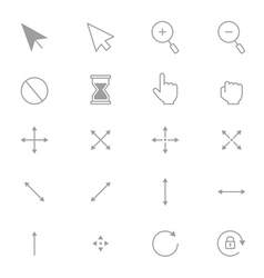 Symbols Internet Arrows and Internet Control Set vector image