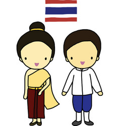 Thailand traditional costume vector