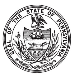 The seal of the state of pennsylvania vintage vector