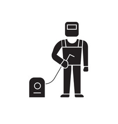 welder welding work black concept icon vector image