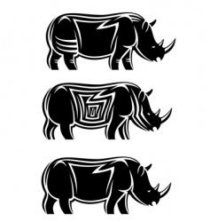 Wild rhinoceros vector