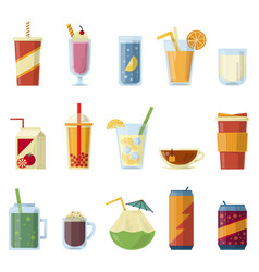 With non alcoholic drinks vector