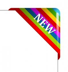 color corner business ribbon vector image vector image