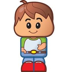Cute Boy Avatar vector image