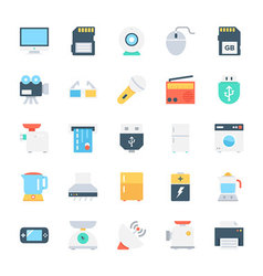 Electronics colored icons 1 vector