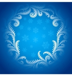 frost pattern frame vector image vector image
