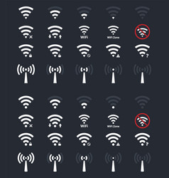 wifi signs and icons wireless signal vector image vector image