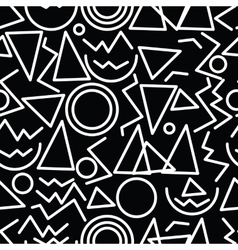 geometric minimal seamless abstract pattern vector image vector image
