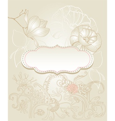 vintage style background vector image