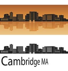Cambridge skyline in orange vector image